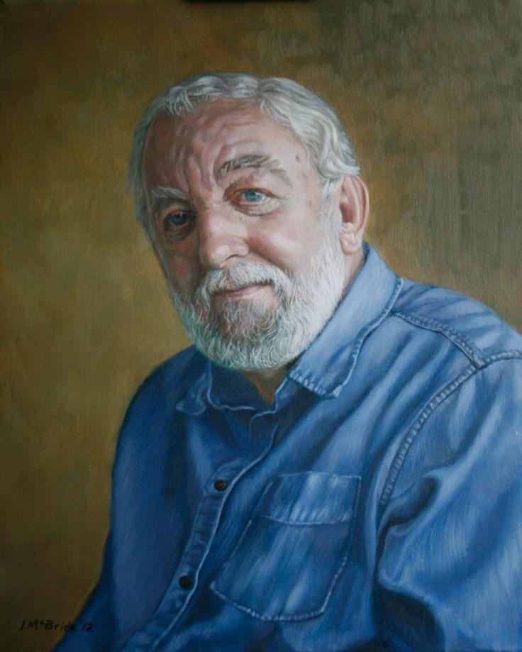 John McBride self portrait - oil painting