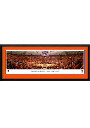 SAVE $50 TODAY ONLY | Illinois Fighting Illini State Farm Center Deluxe Framed Posters