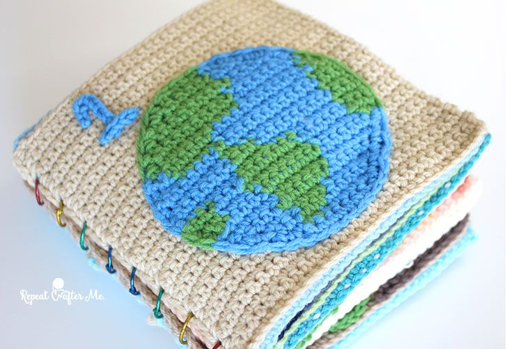 Earth Day Crochet Quiet Book Spielbuch Repeat Crafter Me Und
