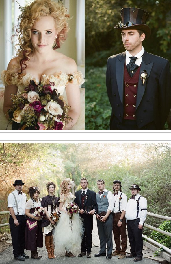 steampunk wedding--this one is for you Jade and Sabrina :)  Have the theme toned down just a bit and it would be perfect!!!
