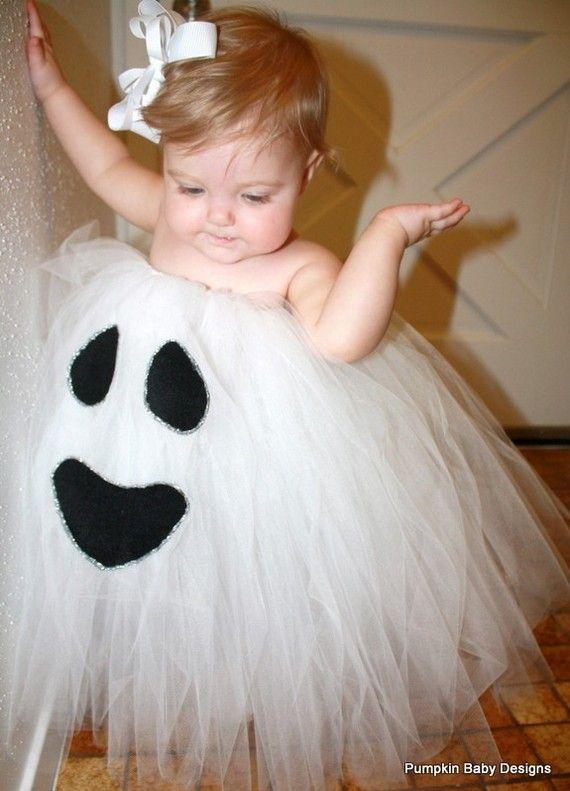 Ghost Tutu Dress Halloween Costume by pumpkinbabydesigns on Etsy