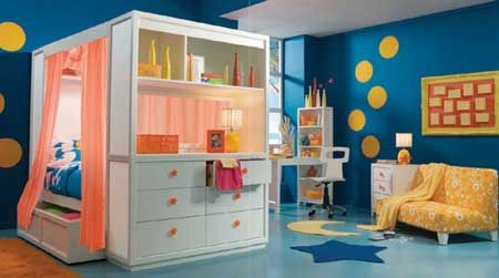 Lea Contemporary Children Bedroom Sets with Full Size Bed