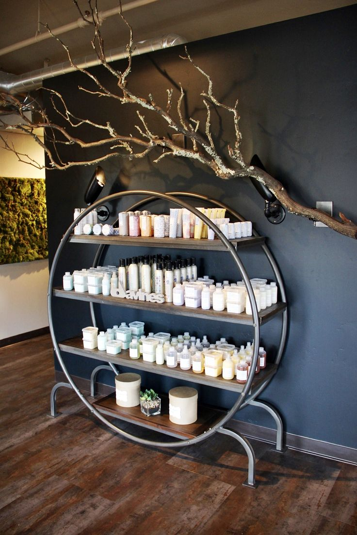 Our Davines products on display! #waxing_salon_decor