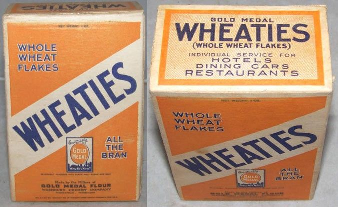 """Wheaties was created in 1922, as a result of an accidental spill of a wheat bran mixture onto a hot stove by a Minnesota clinician working for the Washburn Crosby Company (later General Mills). Wheaties began to be advertised with the first-ever commercial jingle. Its lyrics were sung to the tune of the then-popular """"She's a Jazz Baby"""": """"Have you tried Wheaties? They're whole wheat with all of the bran. Won't you try Wheaties? For wheat is the best food of man."""