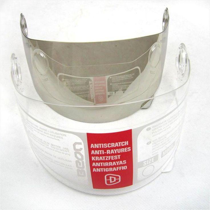 [Visit to Buy] Beon full face helmet visor lens B-500 motorcycle capacete PC Anti-UV Anti Fog visor mirror Clear/Silver/Brown #Advertisement