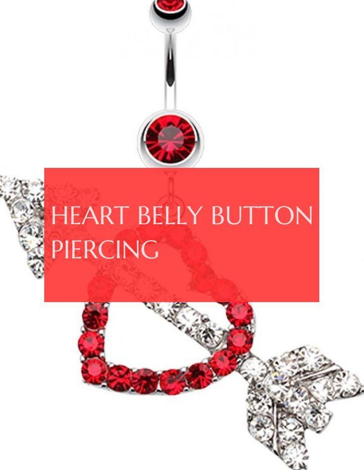 Herz Bauchnabelpiercing Bauchnabelpiercing herz bauchnabelpiercing #heart #belly …   – Belly Piercing