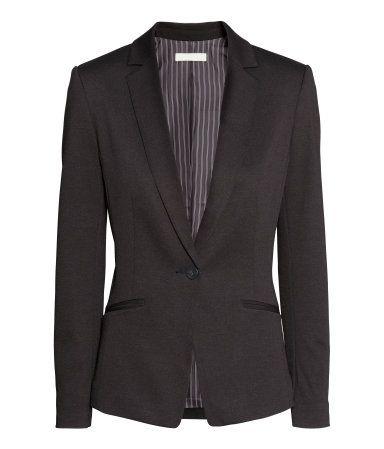2015 Fitted Black Jersey Blazer @ H&M $35