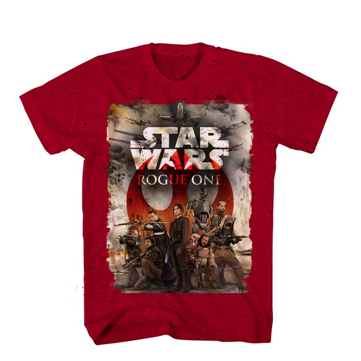 Official Star Wars Rogue One Movie Team Cast Logo Poster Limited T-Shirt Top