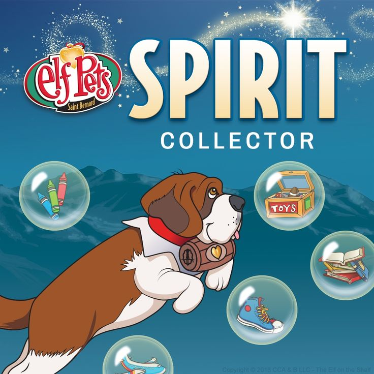 Match the bubbles to the kind deeds they represent to help the Elf Pets Saint Bernard collect Christmas spirit in the Spirit Collector game! | Online Games | Free Online Games | Christmas Games for Kids | Christmas Activities | Elf on the Shelf Ideas