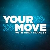 Your Move with Andy Stanley Podcast - Great for spiritual development. - http://itunes.apple.com/us/podcast/your-move-andy-stanley-podcast/id211872550?mt=2