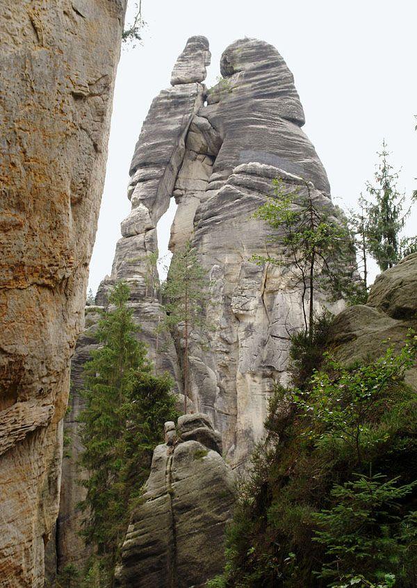 """Milenci"" (Lovers) in Adršpach rocks (East Bohemia), Czechia"