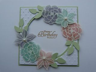 Stampin Up Secret Garden window card with vellum embossed flowers by Rainy Box Crafts