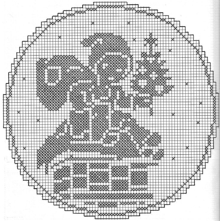 filet crochet pattern, christmas