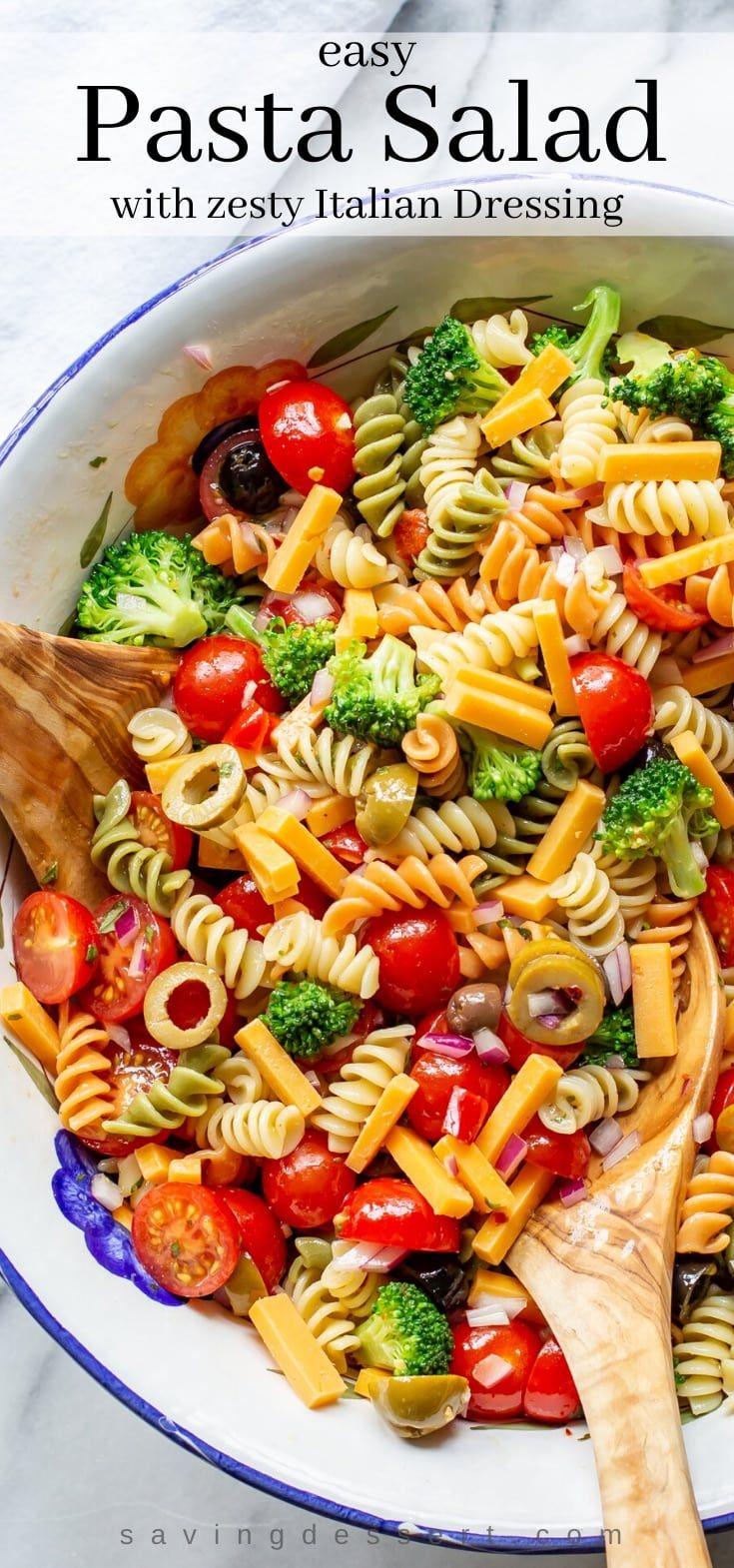 Easy Pasta Salad Recipe Recipe In 2020 Easy Pasta Salad Recipe Easy Pasta Salad Easy Pasta