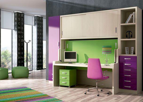 25 best ideas about mesa abatible en pinterest mesa - Dormitorio juvenil con cama abatible ...
