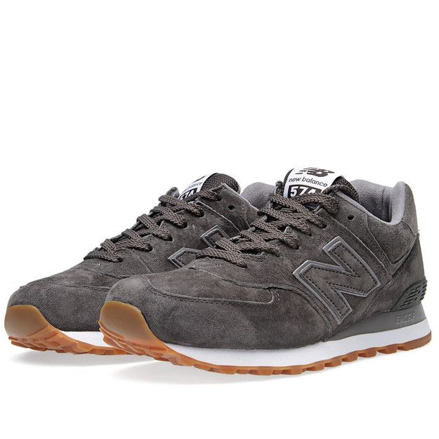 New Balance has just released a trio of the built on gum soles with suede  uppers, accented with grey. The retro runner can be had in a choice of burgu