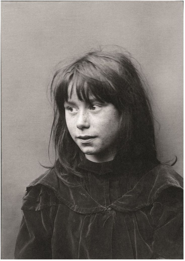Early 1900 taken by Horace Warner - Spitalfields Nippers - A girl wears a fine…