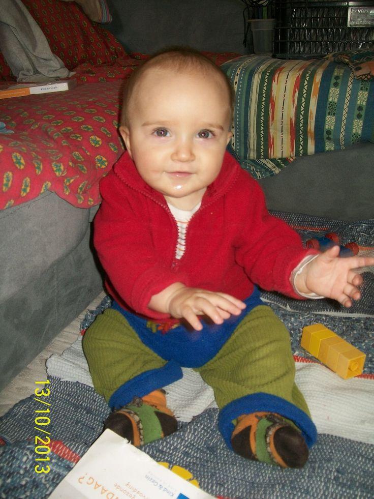 Fleece dekentje en fleece mama pyjama worden babybroekje