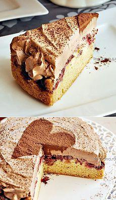 Вишневый торт с кофейно-шоколадным кремом | FEMIANA