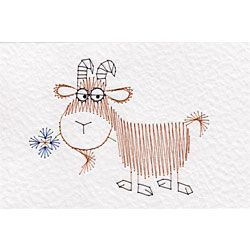 Goat | Animals and Birds patterns at Stitching Cards.