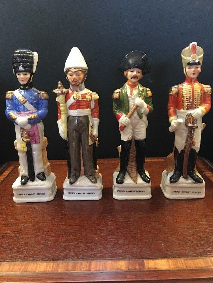 Vintage French Military Figurines French Calvary Officers Hand Painted Gilded  | eBay