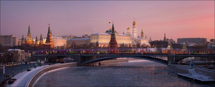 Christmas morning | Moscow, river, morning, the Kremlin