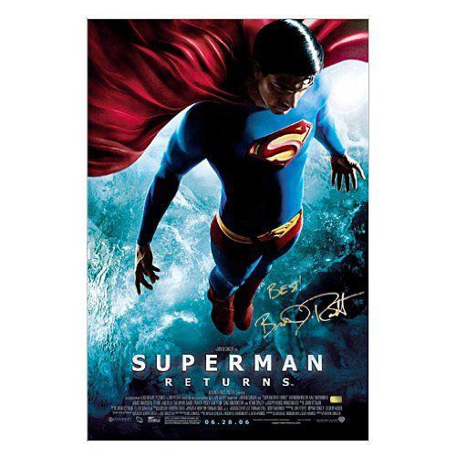 Brandon Routh Autographed 27x40 Superman Returns Final Original Poster @ niftywarehouse.com #NiftyWarehouse #Superman #DC #Comics #ComicBooks