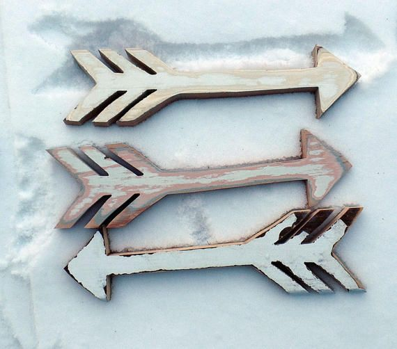 Three Wooden Arrows Junk Gypsy Decor Arrow Wall Art by woodenaht