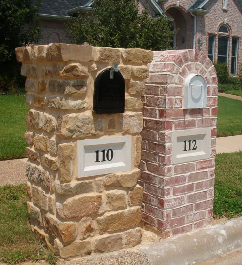 Nice Brick Mailbox Design Options   Information U0026 Pictures   Brick Doctor