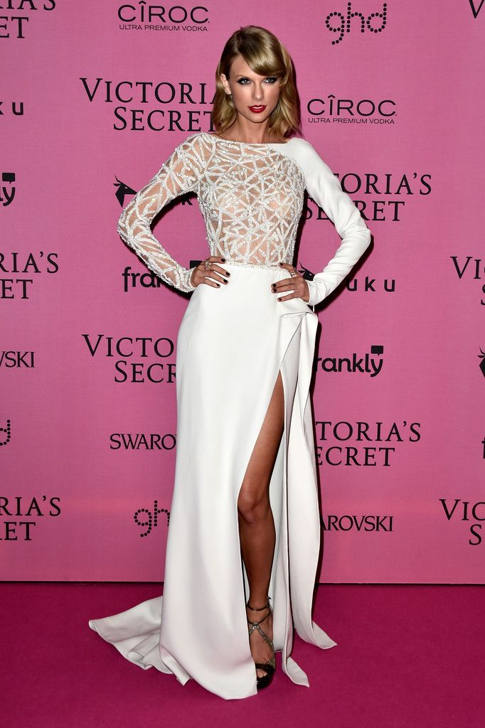 Taylor Swift in Zuhair Murad attends the after party for the annual Victoria's Secret fashion show at Earls Court on December 2, 2014 in London, England.