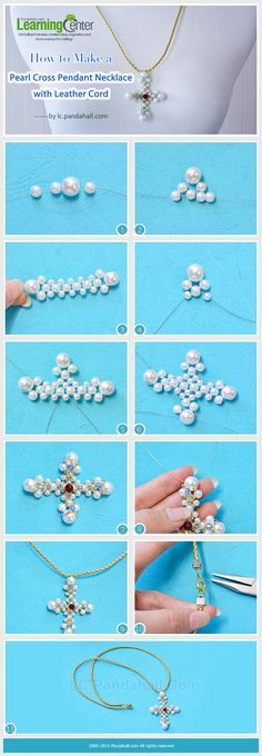 How to Make a Pearl Cross Pendant Necklace