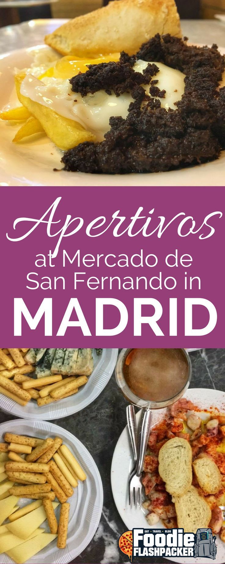 I've found one of my new favorite things in life-- aperitivos. Specifically, aperitivos from Mercado de San Fernando in Madrid.  It's really everything I like all at once: sitting around talking with a bunch of friends, trying a bunch of new foods and drinking. I don't know how I didn't know about this before.  Aperitivos is kind of like a Spanish style brunch. You can technically do it any day of the week, but it's most popular on the weekends.