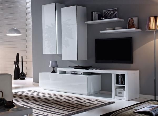 contemporary aina wall storage system in various colour choices - Wall Storage Systems Bedroom