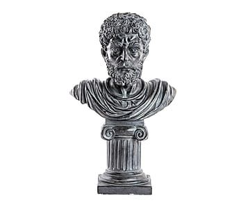 Figura decorativa en resina Busto Romano