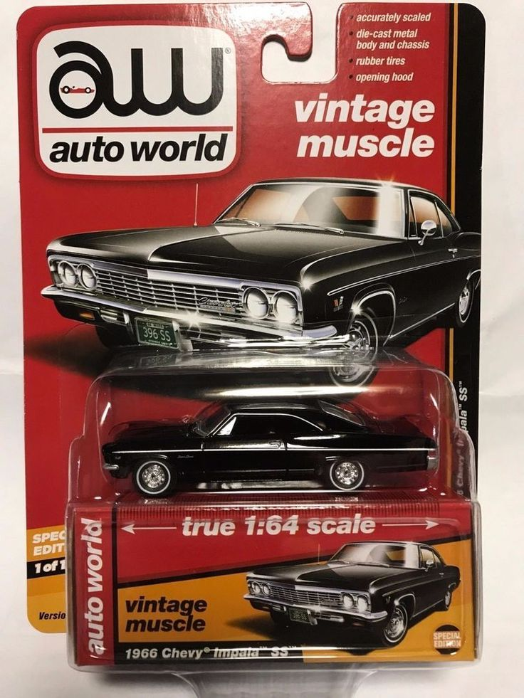 1:64 Auto World Premium 2017 Release B - 1966 Chevy Impala SS - Black #AutoWorld #Chevrolet