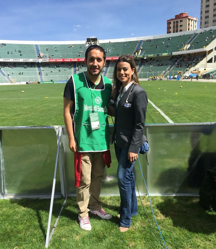 Con una periodista Colombiana