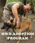 Adopt a Military Working Dog! The MWD Adoption Program adopts dogs that did not pass the rigorous certification process and were not selecte...