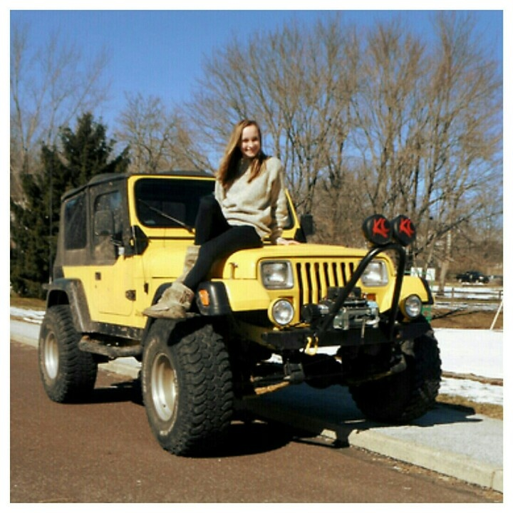 Best modification to a #jeepwrangler ever? #4x4 #lifted #offroading #snow #winter2013 #softtop #jeepgirl #jeepwave #philadelphia #autoland #jeepland #shocks
