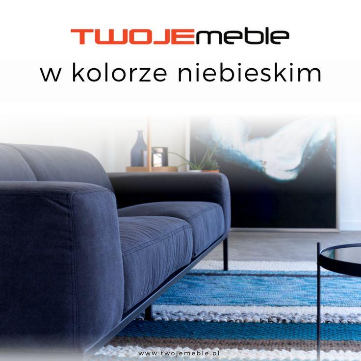 Twoje meble w kolorze niebieskim czyli niebieskie aranżacje – na zdjęciu dywan niebieski Norway, Zuiver #TwojeMeble #NiebieskieAranżacje #Dywan #Norway #Zuiver