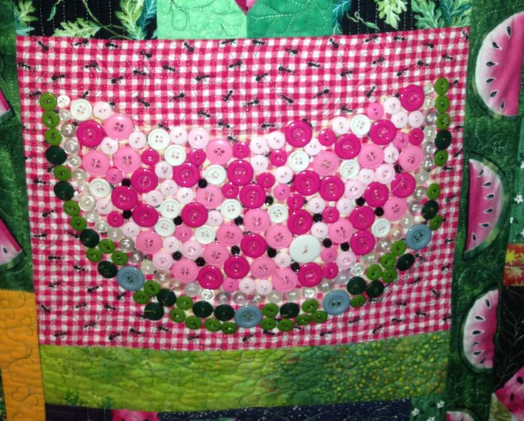 Button Watermelon ...part of 2005 quilt challenge quilt at ... : suwannee quilt shop - Adamdwight.com