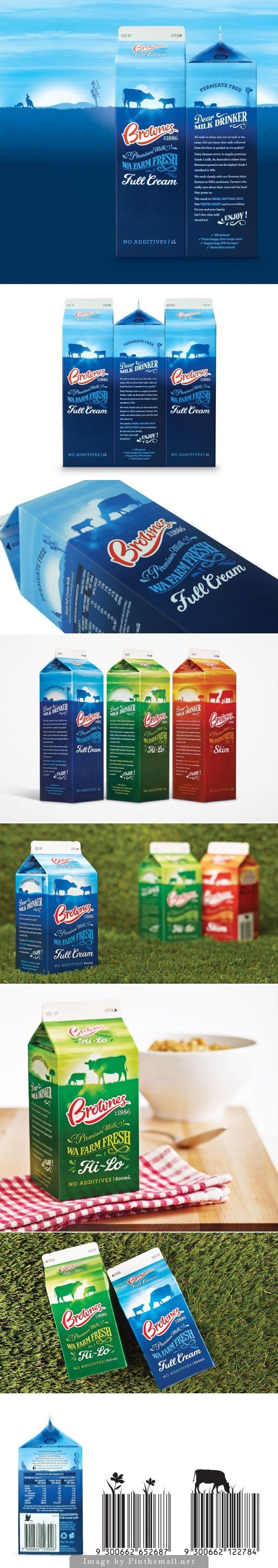 Brownes White #Milk by Boxer & Co. - http://www.packagingoftheworld.com/2014/11/brownes-white-milk.html