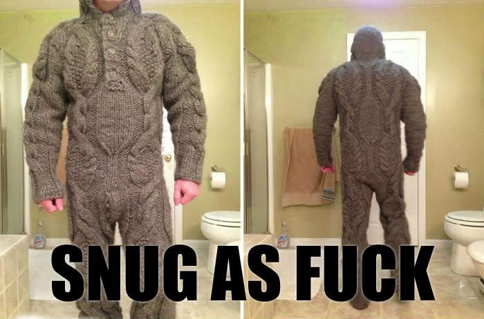 Knitting Collegehumor : Cable knit onesie memes pinterest