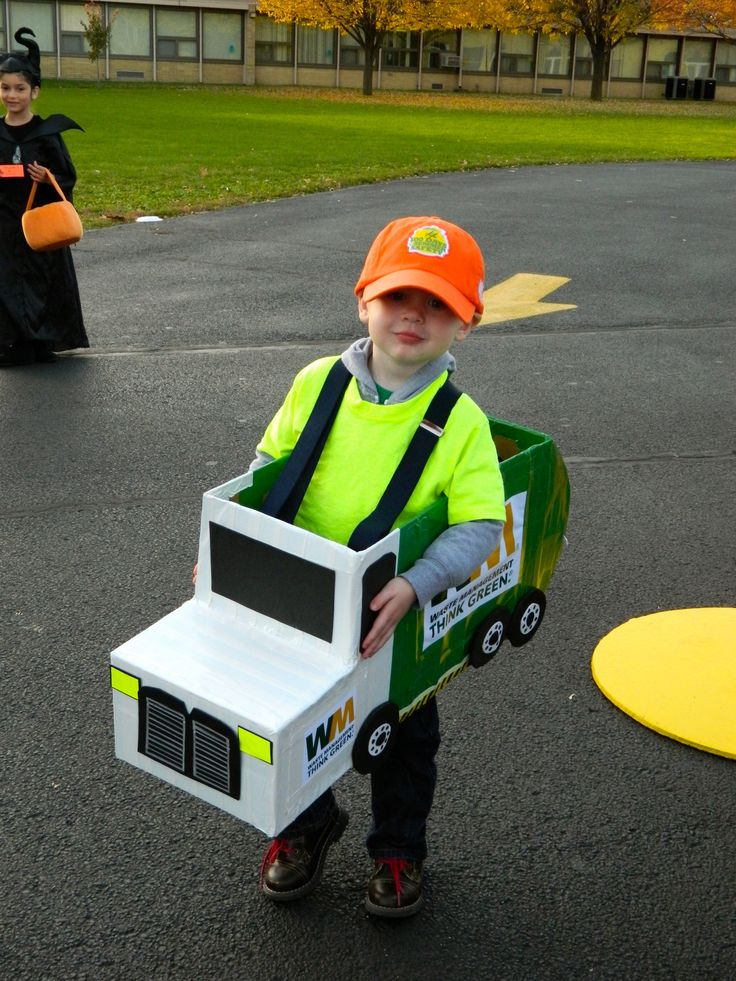 Jimmy's garbage truck. My nephew's halloween costume