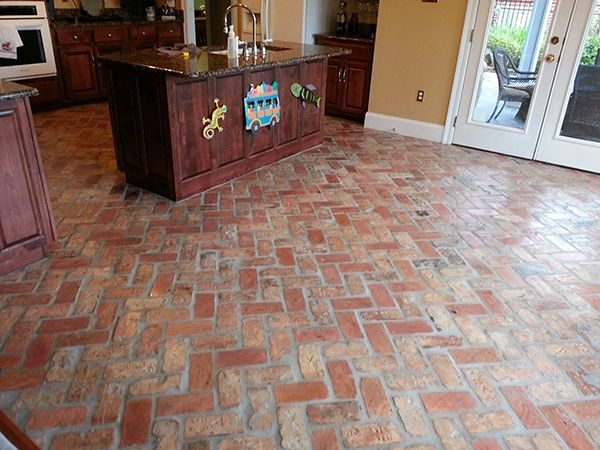 Old Chicago Antique Brick Floor Tile Brick Flooring Alternative Flooring Brick Look Tile