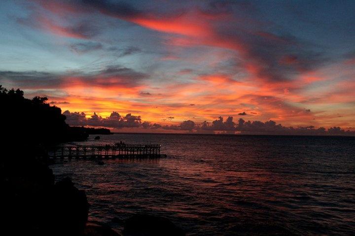 awesome sunset. Rock Bar - Bali, Indonesia.