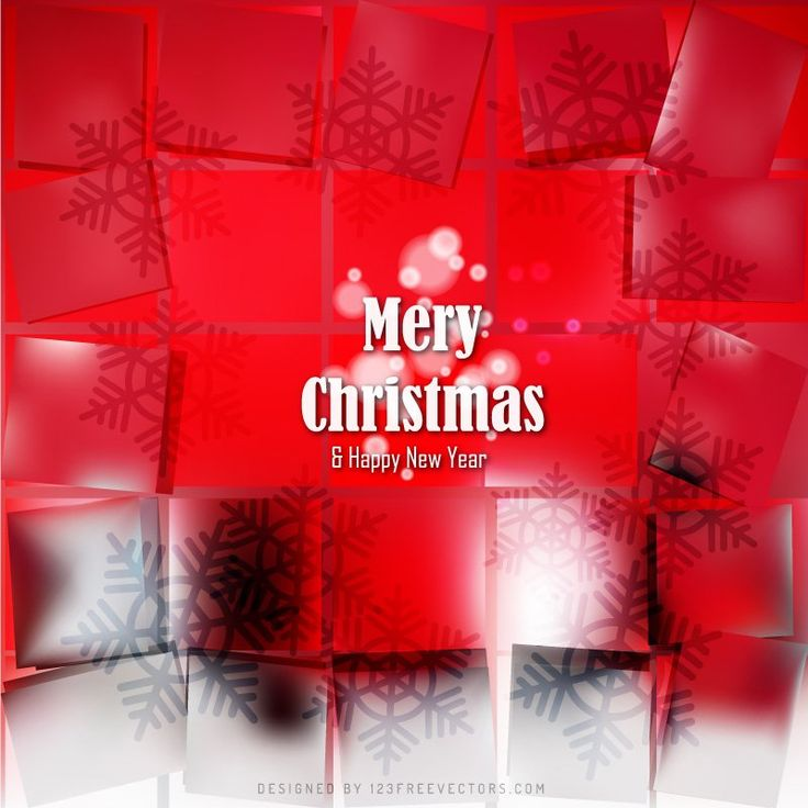 Abstract Red Christmas Background with Snowflake