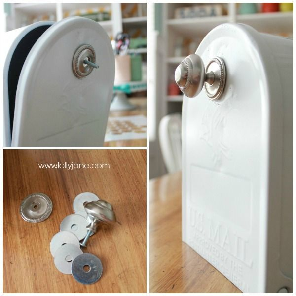 How to install a custom mailbox pull instead of the standard handle.
