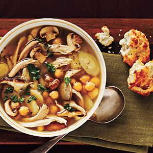 Parsnip soup with chicken