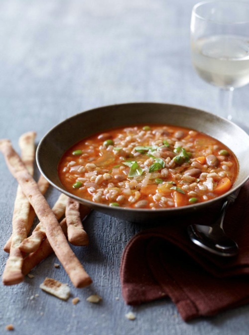 Mixed Vegetable and Farro Soup Recipe | HUNGRY? | Pinterest