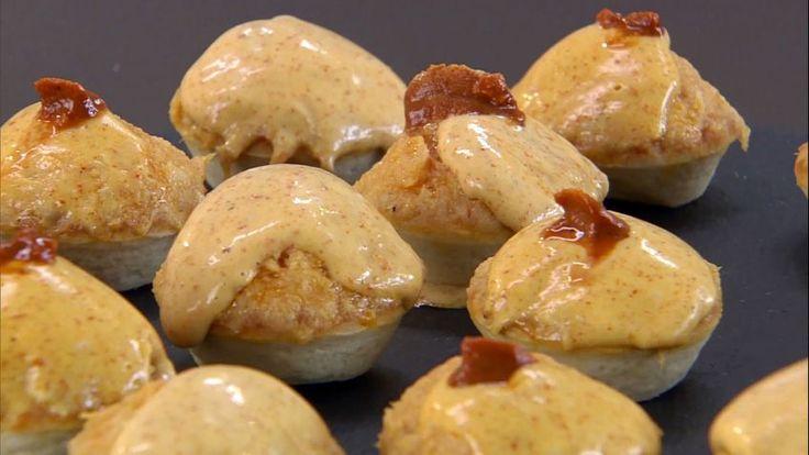 Tartaletas de pastel de pescado y mahonesa de erizo - Presentación